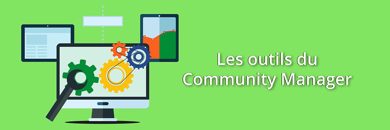 Image de l'article : les outils du community manager