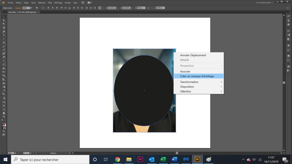 Tuto créer un masque d'écrêtage avec illustrator