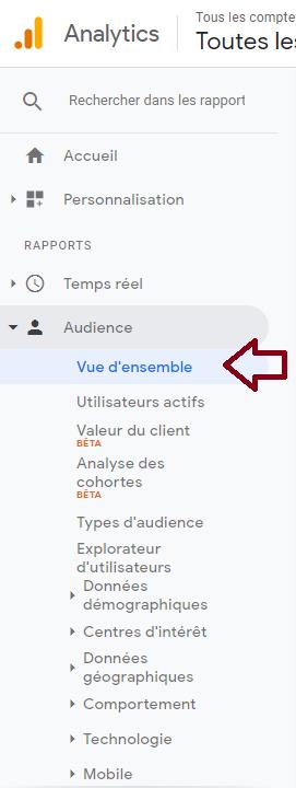 KPI-google-analytics-audience-vue-ensemble